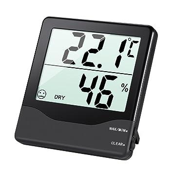 AMIR Hygrometer Thermometer Digital Luftfeuchtigkeit Messer - Luftfeuchtigkeit im wohnzimmer