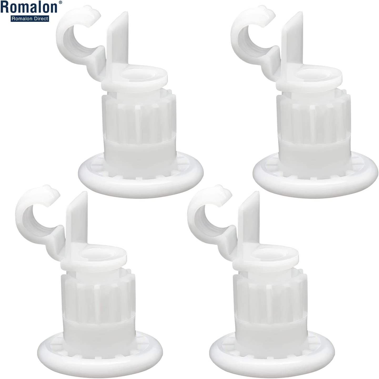 Romalon WD12X10327 Dishwasher Upper Rack Roller Wheel Set-4Pack Compatible With General Electric-Replace WD12X10327 WD12X383