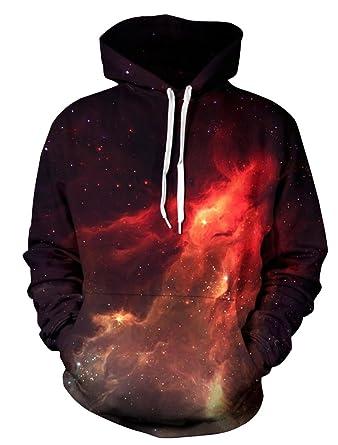 Vogstyle Unisex Mode Sport Hoodie Sweatshirt 3D Digital Print Pullover Style  1 S-M