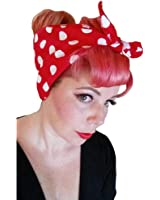 Spellbound Bows Red with Big White Polka Dots Double Wide Headwrap