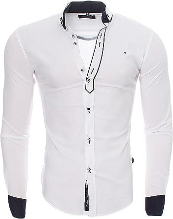 Carisma CRM Hombre Camisa Slim Fit Button de Down Men s ...