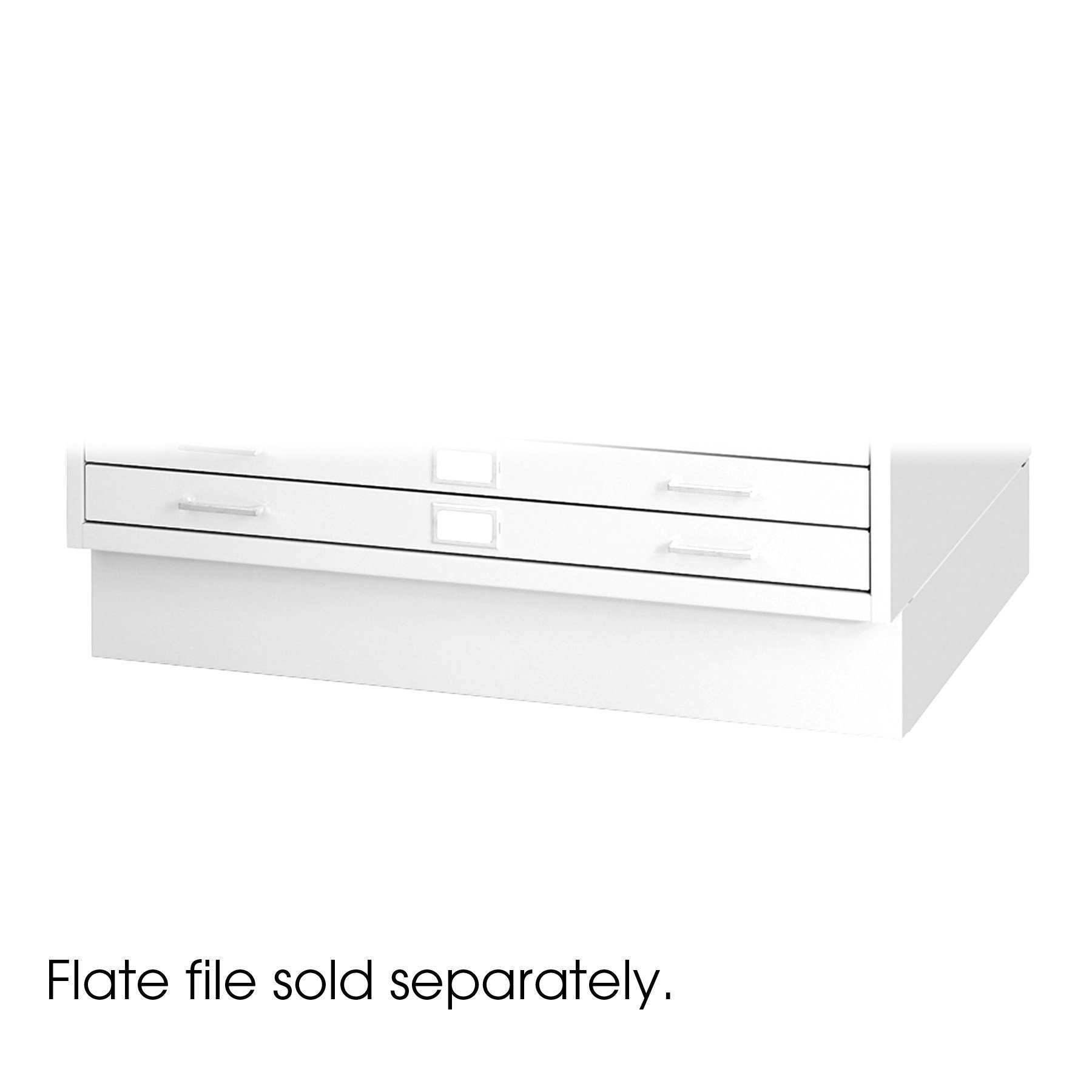 Safco Products 4999WHR Flat File Closed Base for 5-Drawer 4998WHR Flat File, sold separately, White