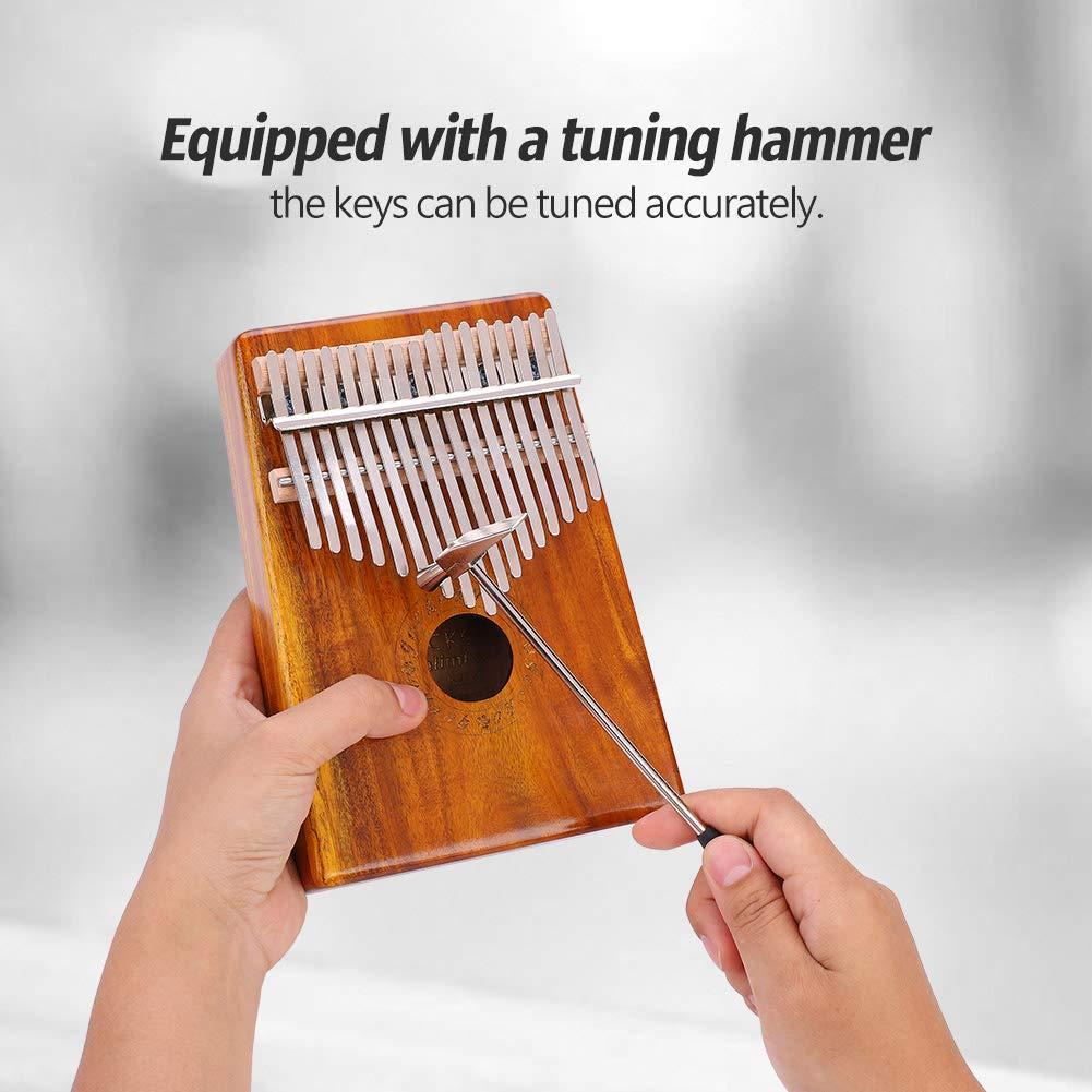 Kalimba Thumb Piano 17 Keys Easy-to-play Finger Piano Mbira Solid Mahogany Wood
