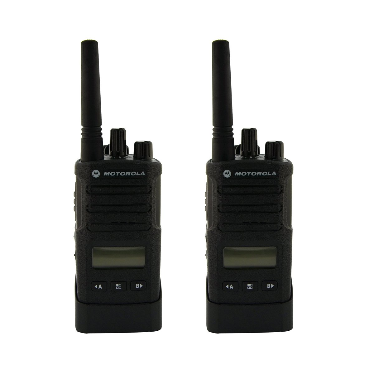 Motorola RMU2080D On-Site 8 Channel UHF Rugged Two-Way Business Radio with Display and NOAA (Black) (Two Count)