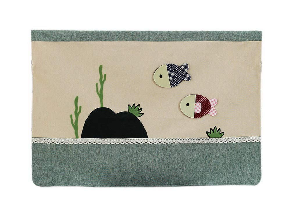 Gentle Meow Home Creative 50-Inch TV Cloth Decorative Dustproof Cover, Small Fish