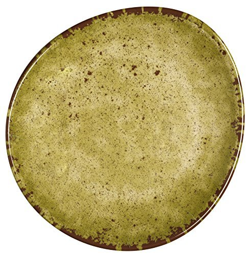 Melange 6-Piece 100% Melamine Salad Plate Set (Rustic Egg Collection) | Shatter-Proof and Chip-Resistant Melamine Salad Plates | Color: Lime Green