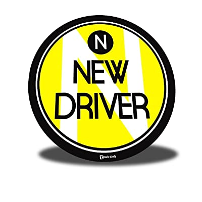 Zento Deals New Driver Vehicle Round Magnet Sign - A Must Have for All New Registered Drivers for a Safer Trip: Automotive