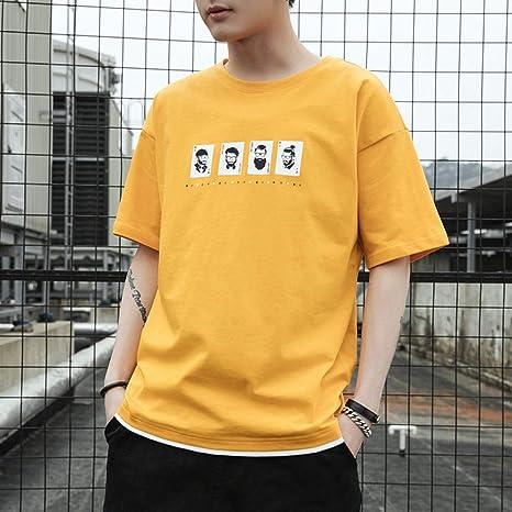 ljradj banxiu Camiseta de Verano de Manga Corta para Hombre ...