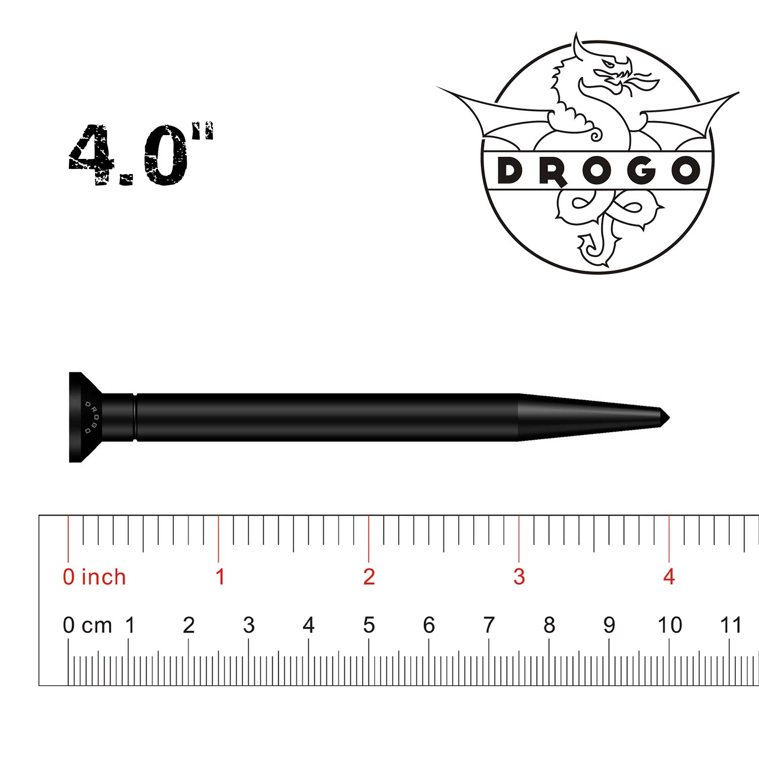 Stealth Black DROGO 4 SnagX Replacement Antenna for Dodge RAM 1500 2012-2018 FM//AM Reception Enhanced Tough Material Creative Design