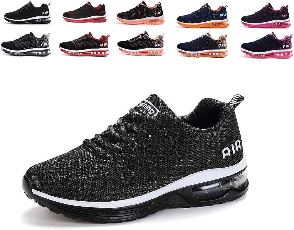 MIMIYAYA Zapatillas de Deporte con Cojines de Aire Calzado de Running Net para Estudiante Volar Zapatos Tejidos Zapatillas Deportivas de Mujer Gimnasia Sneakers 34-46 EU