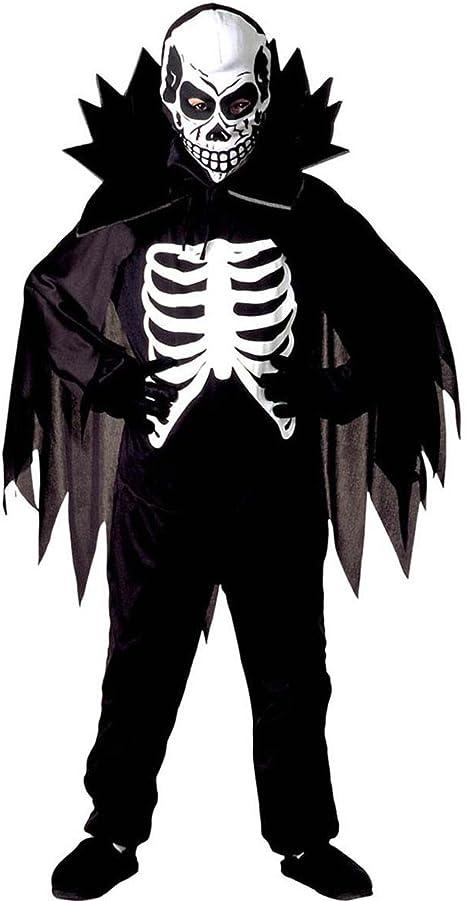 NET TOYS Disfraz niño Esqueleto Traje la Muerte para Chicos L 158 ...