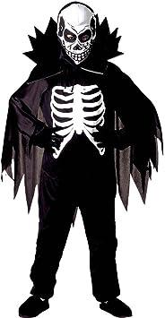 Traje la muerte para chicos Disfraz niño esqueleto M 140 cm años 8 ...