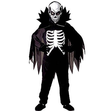 Traje la muerte para chicos Disfraz niño esqueleto M 140 cm ...
