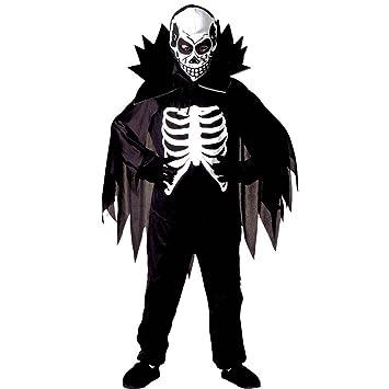 Amakando Traje la Muerte para Chicos Disfraz niño Esqueleto L 158 ...