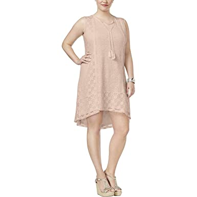 Style Co Plus Size Lace Peasant Dress 3x At Amazon Womens