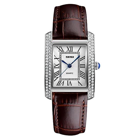 cuarzo vestido de relojes para hombres y mujeres de casos diamantes de imitación de metal de