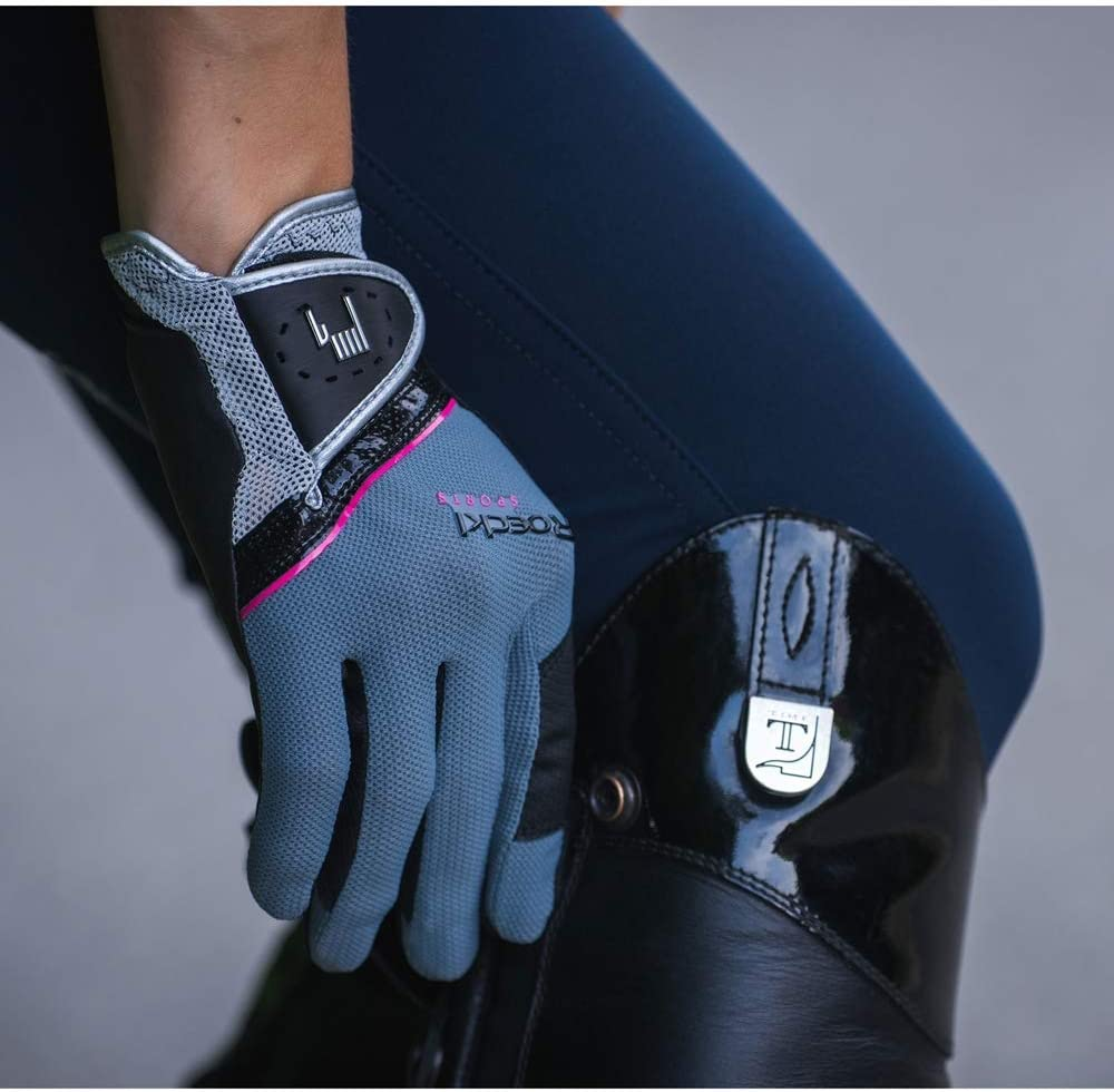 Roeckl Guantes Madrid Riding Gris//Rosa