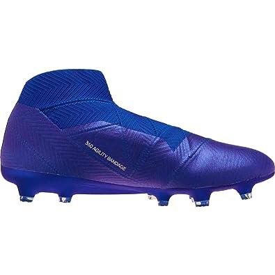 77f03bddf adidas Nemeziz 18+ FG Cleat - Men s Soccer 10 Blue White