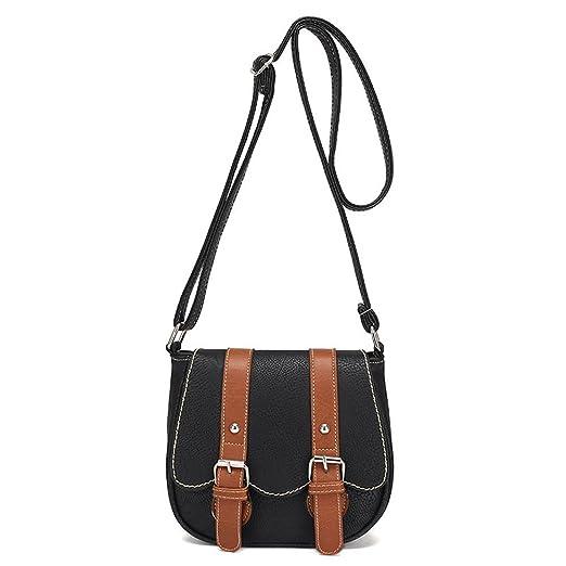 0bbb1e392e16 Amazon.com: Women Retro Bag Leather Tote Shoulder Crossbody Handbag ...