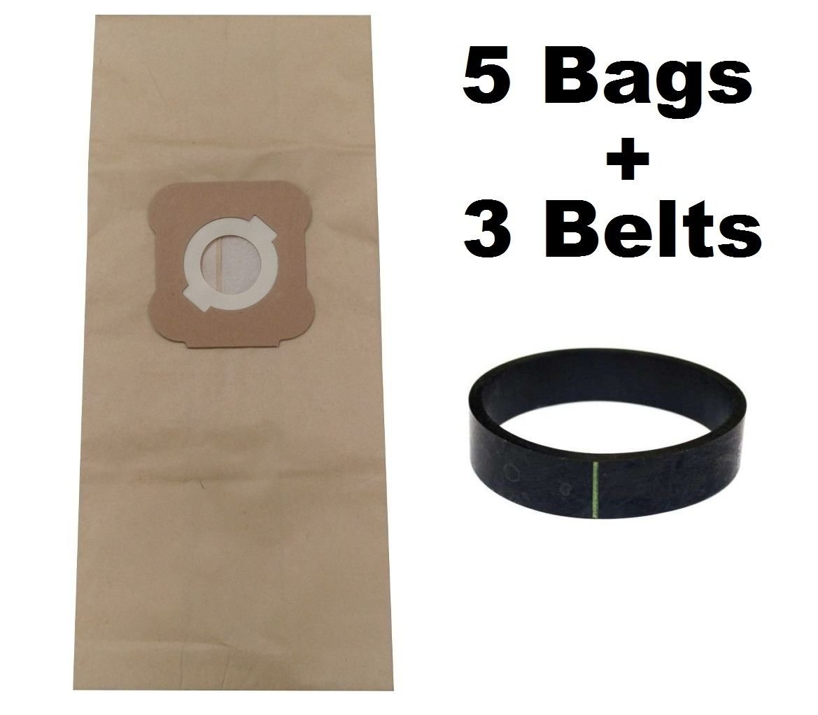 KHY 5 Micron Bags+ (3) Belts for Kirby Sentria Ultimate and Diamond G3 G4 G5 G6 G7 H2 Ultimate Vacuums Cleaners