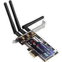 Hommie Carte Réseau Wi-FI N900 Adaptateur PCI Express Double Bande sans Fil avec Une Vitesse Maximale de 450 MB/s pour PC Supporte Windows10/XP