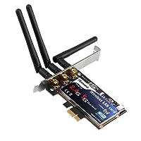 Hommie N900 Wireless Dual Band PCI Express Adapter, 3 Externe Antenne, bis zu 450Mbit/s auf 2,4GHz oder 5GHz für Desktop Computer, für Windows 10/8.x/Vista/7/XP