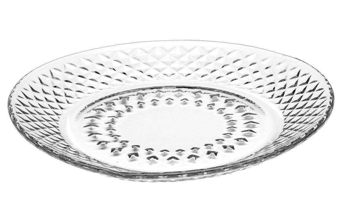 Set of 12 Clear Libbey Montclair Glass Salad Plates