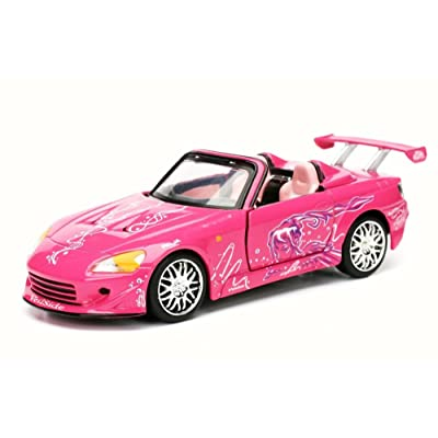 Jada Toys New 1:32 Collector's Series Fast & Furious Collection - Pink SUKI'S Honda S2000 Diecast Model Car: Toys & Games