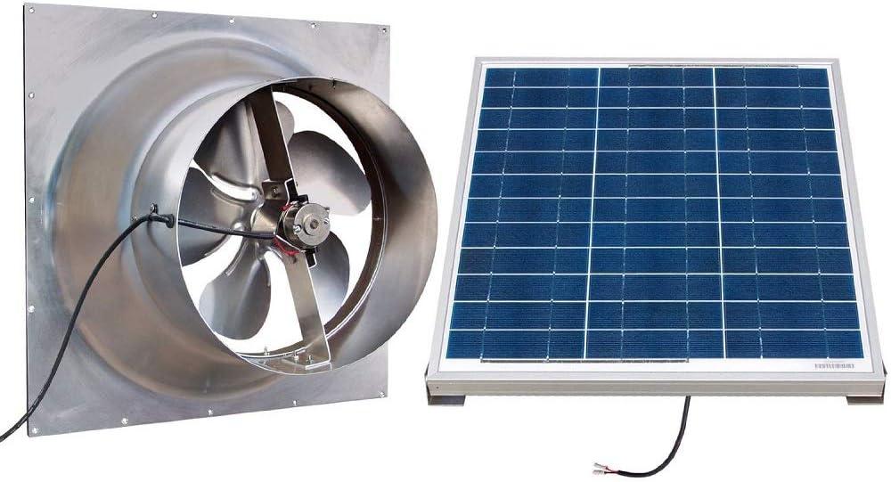 Solar Powered Attic Fan- 24 Watt Gable Exhaust Vent