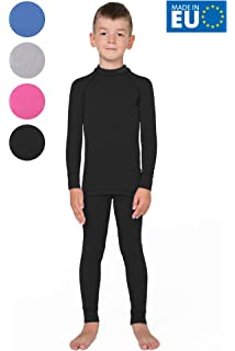 Fleece Lined Long Johns Soft Warm Base Layer for Kids Size 8-16 Years MeetHoo Thermal Underwear Set for Boys