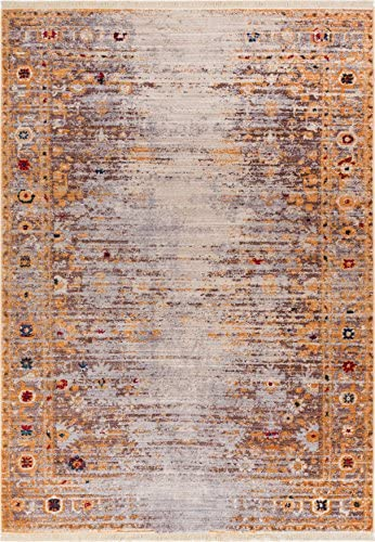 Helen Gold Modern Vintage Floral Traditional Area Small Rug 2 x 3 2 x 2 7 Antique Weathered Oriental Multicolor Pattern