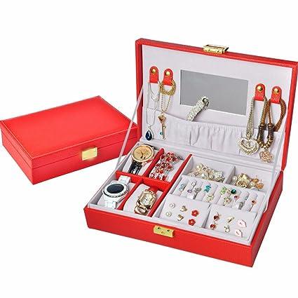 QPSSP Caja De Joyeria Con Cerradura, De Moda Belleza, Korean Princess, Madera,