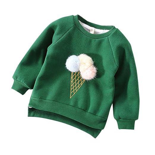 01eda07d26 Amazon.com  KONFA Teen Toddler Baby Girls Boys Winter Pullover Tops ...