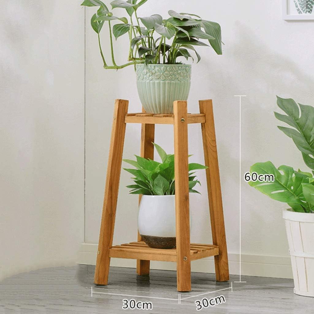 Zxwzzz Blumenständer Hölzerne Regale des Blumenständers aus massivem Holz für vertikales Topfgestell mit Mehreren Schichten (Color : A, Size : 60cm)
