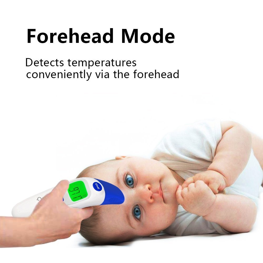 Digital Infrared Baby Forehead Thermometer with Ear Function More Accurate Medical Fever Body Basal Thermometers Suitable for Infant Kid Adult - FDA and CE Approved by QQCute (Image #3)