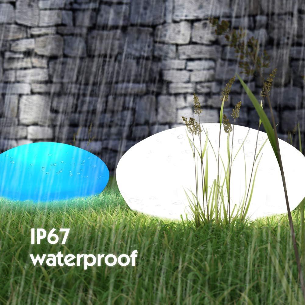 Lampara Solar IP67 Impermeable Para Jard/ín C/ésped Patio Piscina Luz Solar Jardin Paisaje GEEDIAR 16 Colores Ajustables Luces Solares Led Exterior con Control Remoto 27 x 27 x 7 cm