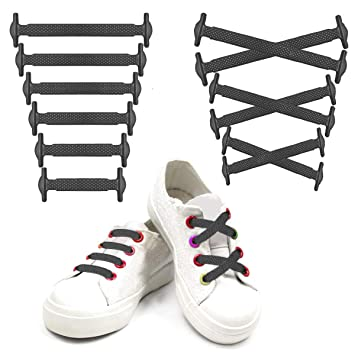 5b420f5864eea Siaomo Elastic Silicone No Tie Shoelaces for Adults and Kids