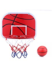 Hanging Mini Basketball Netball Hoop Set, Portable Indoor Kids Children Game Sports Toy With Air Pump