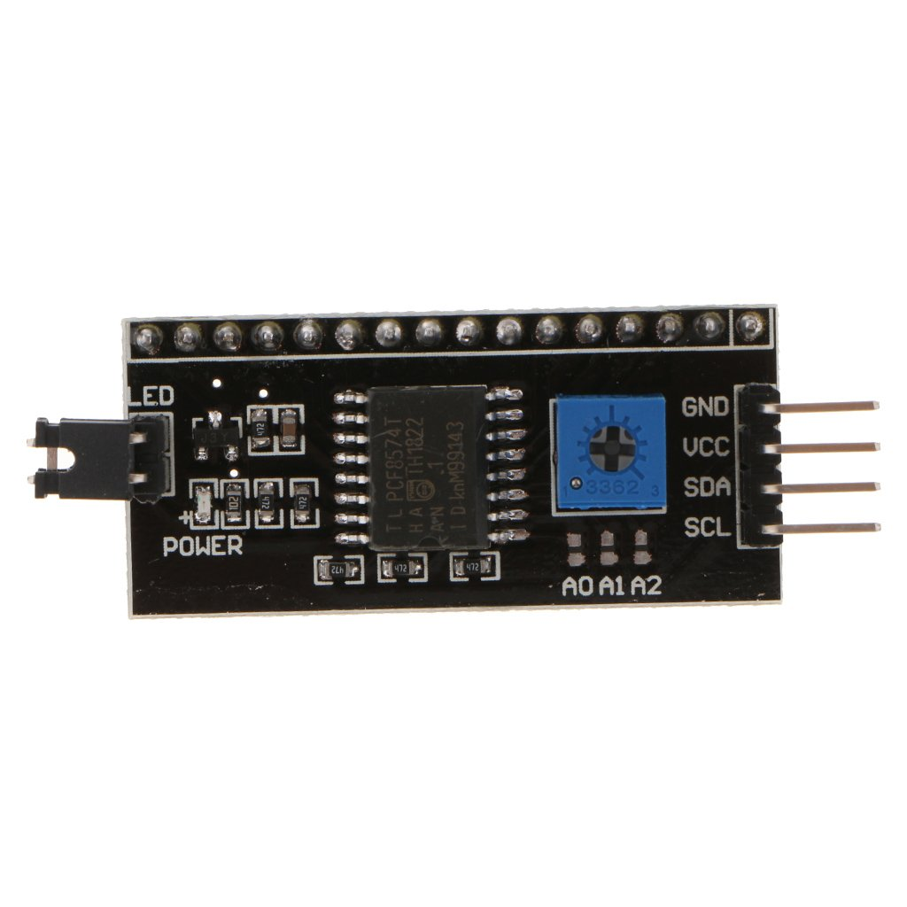 MagiDeal 1602 16x2 Character LCD Display Module White On Blue//Extension High Contrast