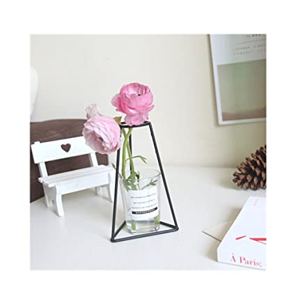 Amazon Glass Vases In Black Metal Rack Stand Window Sill