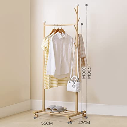 Amazon.com: JPYMJ Floor Standing Coat Rack Clothes Hat Stand ...