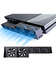 PS4 Ventola di raffreddamento - ElecGear Automatico Temperatura USB External 5 Turbo Cooling Fan Cooler per Console di gioco Sony PlayStation 4
