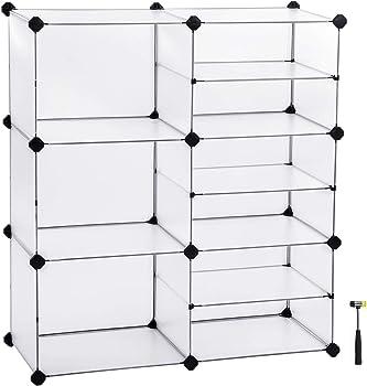 Songmics Interlocking Plastic Cubes Storage Organizer
