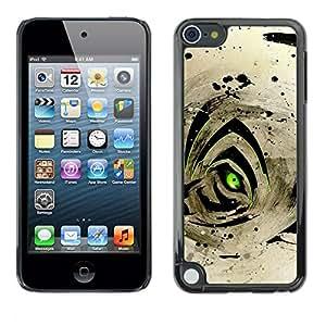 """For Apple iPod Touch 5 , S-type Resumen Ojo de Tigre"""" - Arte & diseño plástico duro Fundas Cover Cubre Hard Case Cover"""