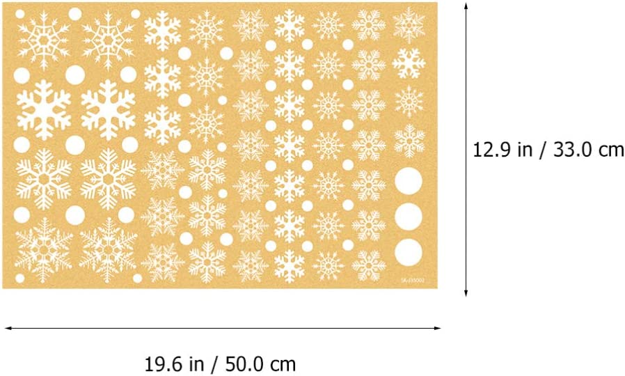 DOITOOL Christmas Snowflakes Window Clings Wall Window Decals Winter Wonderland Decorations New Year Ornaments for Christmas Xmas Holiday Party Supplies 4pcs