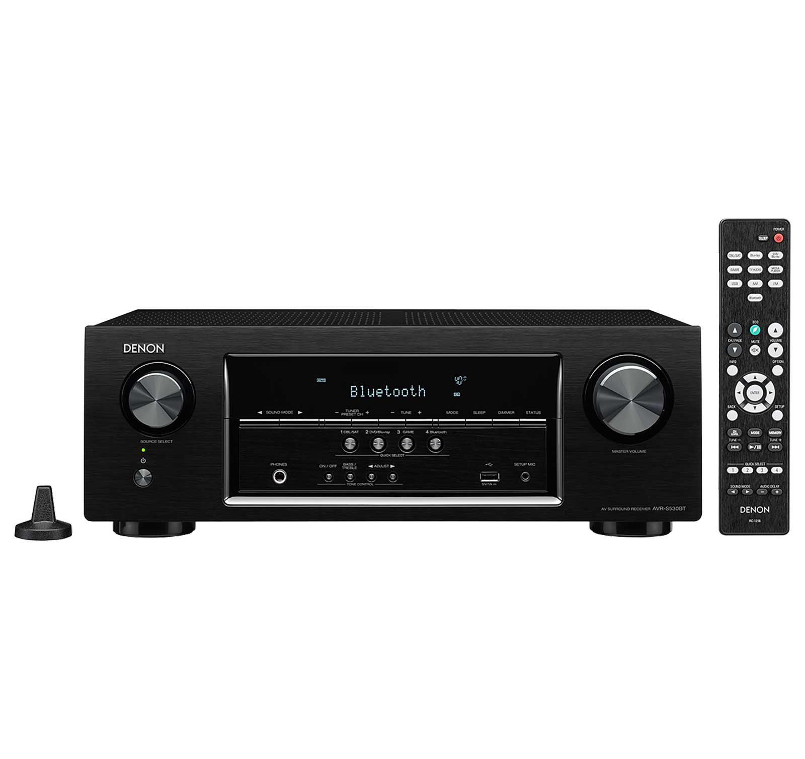 Denon AVRS530BT 5.2 Channel Full 4K Ultra HD AV Receiver (Renewed) by Denon