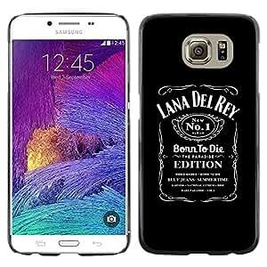 TopCaseStore / la caja del caucho duro de la cubierta de protección de la piel - Paradise Summertime Singer Woman Album Black - Samsung Galaxy S6 SM-G920