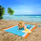 OUSPT Outdoor Beach Blanket, Waterproof Ground Cover, Compact Lightweight Pocket Blanket, Sand Proof Picnic Mat for Travel, Hiking, Camping - Oversize Picnic Blanket