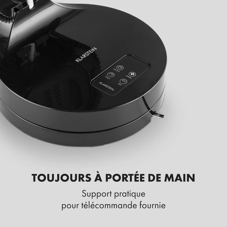 Klarstein Touchstream Ventilateur de table Ø 25cm 45W (Panneau tactile , télécommande , timer , oscillation 90°, 3 vitesses) Noir