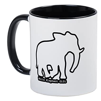 Amazoncom Cafepress White Elephant Gift Mug Unique Coffee Mug